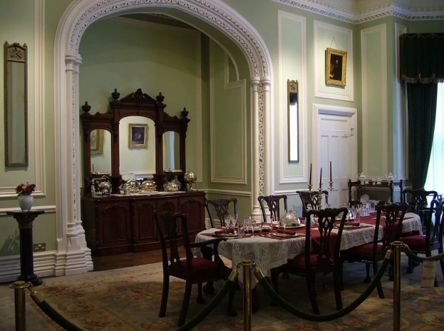 An image of the dining room in Kylemore Abbey in Connemara, County Galway, Ireland.  Photography by Frame To Frame - Bob and Jean.