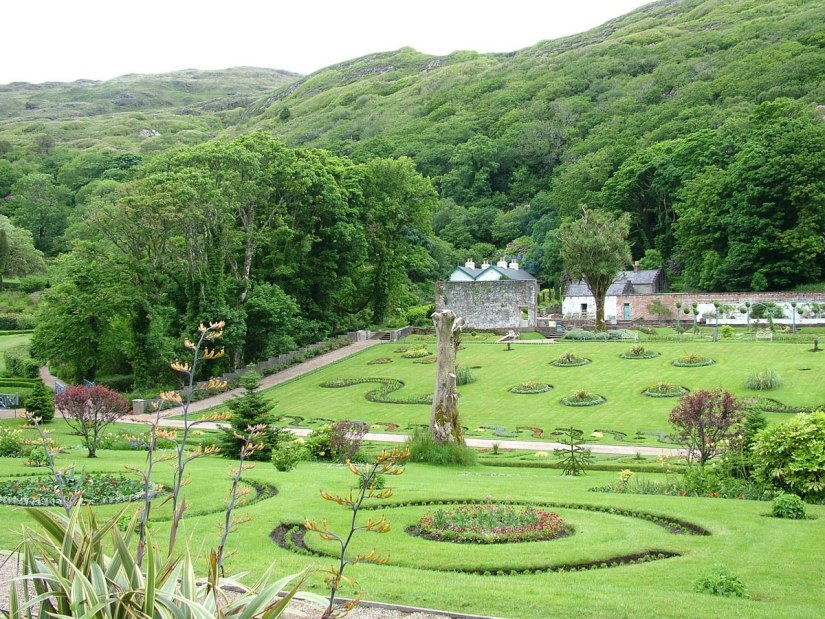 An image of the Walled Victorian Gardens at Kylemore Abbey in County Galway, Ireland. Photography by Frame To Frame - Bob and Jean.