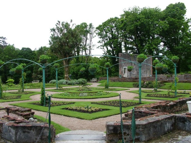 Glasshouse area of the Pleasure Garden in the Walled Gardens at Kylemore Abbey in County Galway, Ireland.