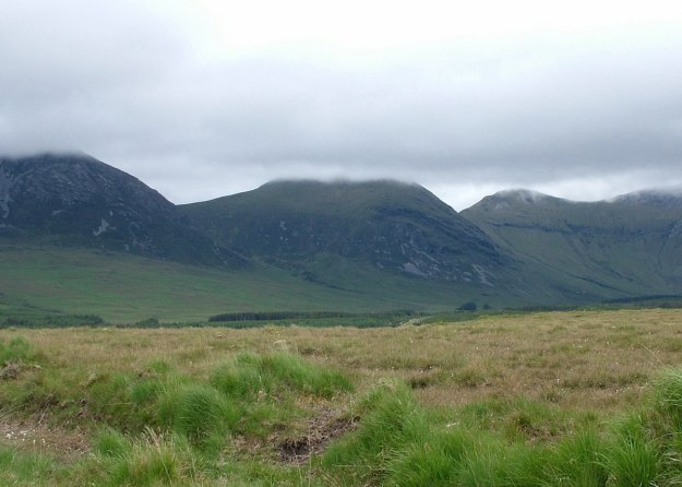 clouds over Muckanaght Mountain - Meacanacht - county galway - ireland