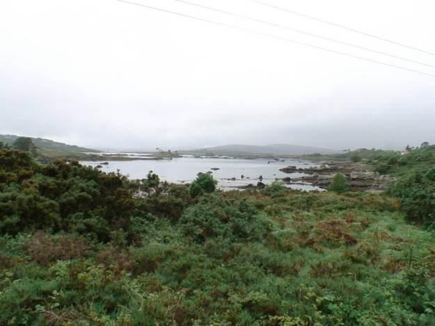 coastline along atlantic coast of ireland