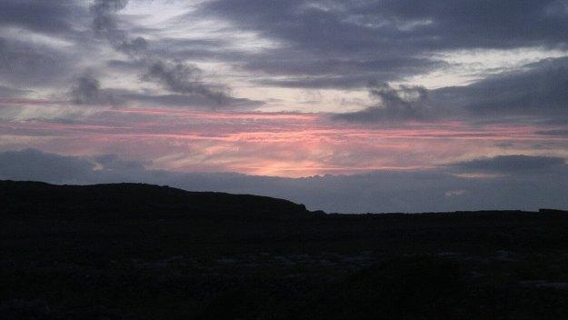 sunset over aran islands - ireland