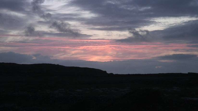 sunset over aran islands - ireland