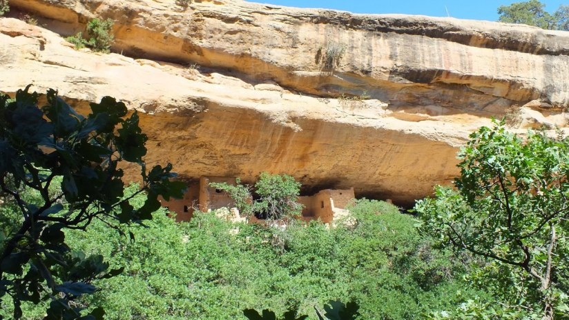 cliff above spruce tree house at mesa verde national park - colorado 4