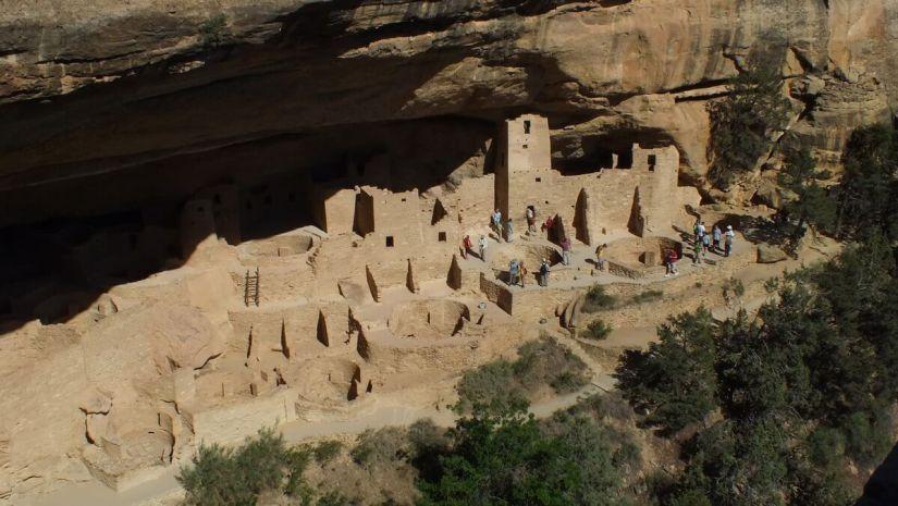 cliff palace at mesa verde national park - colorado