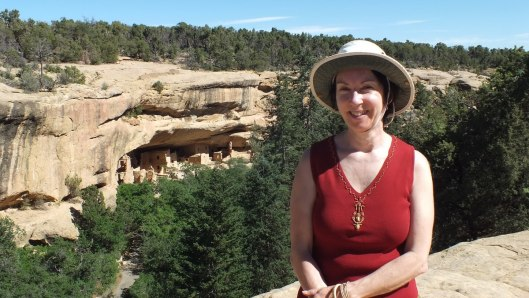 An image of Jean at Mesa Verde National Park in Colorado, United States of America.