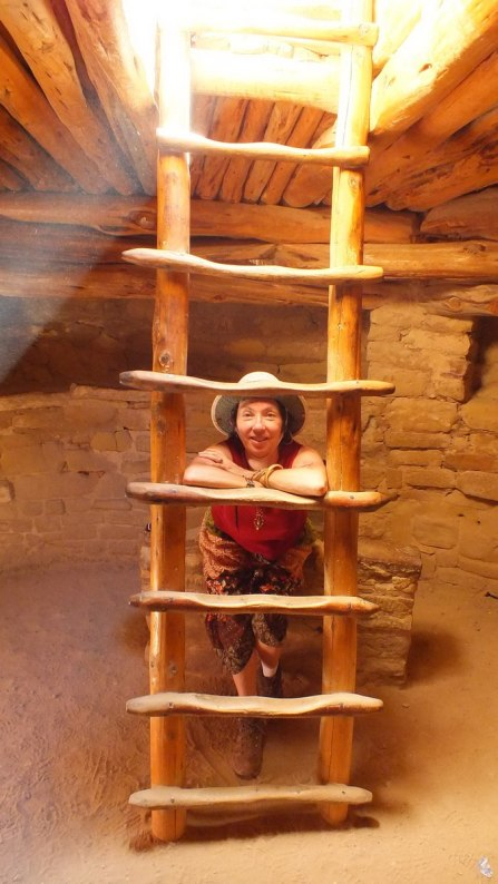 jean inside spruce tree house kiva - mesa verde national park - colorado 1