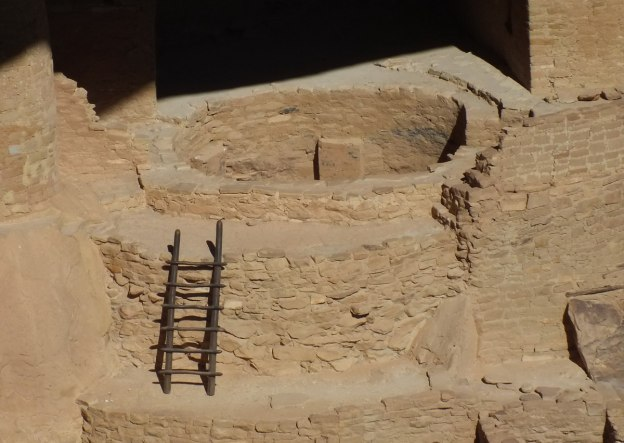 ladder to encircling kiva - mesa verde national park - colorado