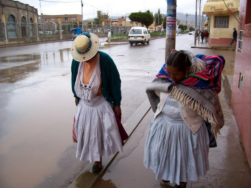 Indigenous native women in puno - peru
