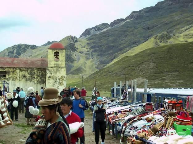 PeruRail Andean Explorer stops at La Raya in Peru, South America