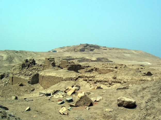 Temple of Pachacamac ruins south of Lima in Peru, South America