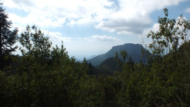 Mountains and countryside near Cerro Pelon Monarch Butterfly Sanctuary, near Macheros, Mexico