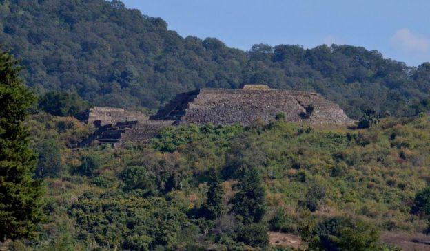 pyramids of san felipe de los alzati, zitacuaro, mexico