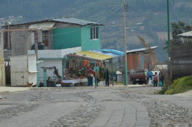 roadway to El Rosario Butterfly Preserve - Mexico