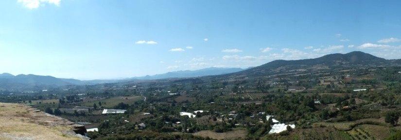 view from atop pyramids of san felipe de los alzati, zitacuaro, mexico 6