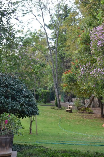 Lawns and gardens at Hotel Rancho San Cayetano, in Zitacuaro, Mexico