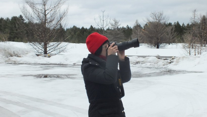 Jean takes pictures in algonquin park, ontario