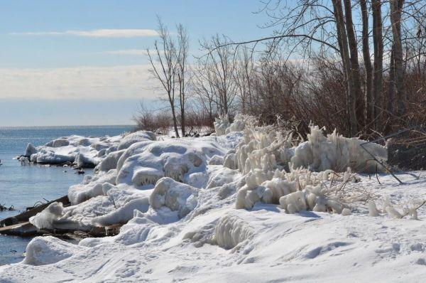 shoreline ice at tommy thompson park, toronto, ontario, 2