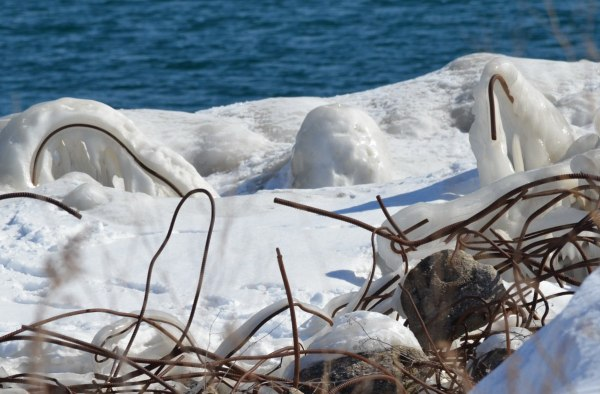shoreline ice at tommy thompson park, toronto, ontario, 3