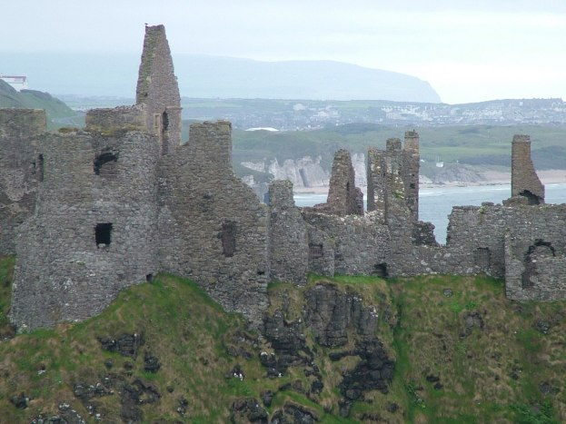 An image of the stone walls of Dunluce Castle in County Antrim, Northern Ireland. Photography by Frame To Frame - Bob and Jean.