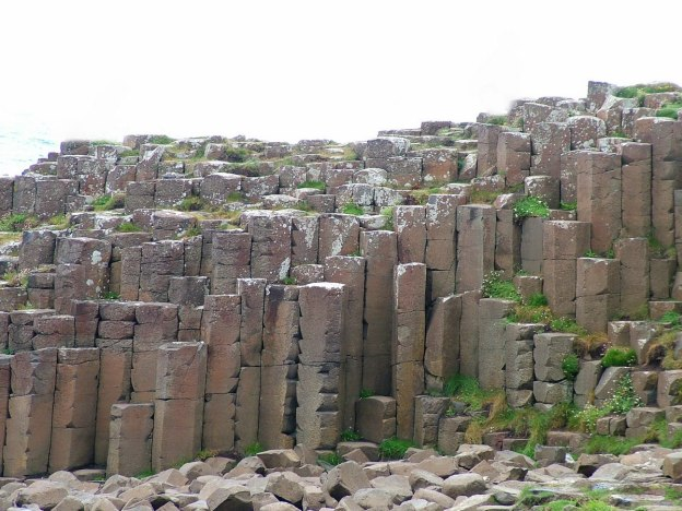An image of a wall of hexagonal basalt columns at the Giant's Causeway, near Portrush, Northern Ireland. Photography by Frame To Frame - Bob and Jean.