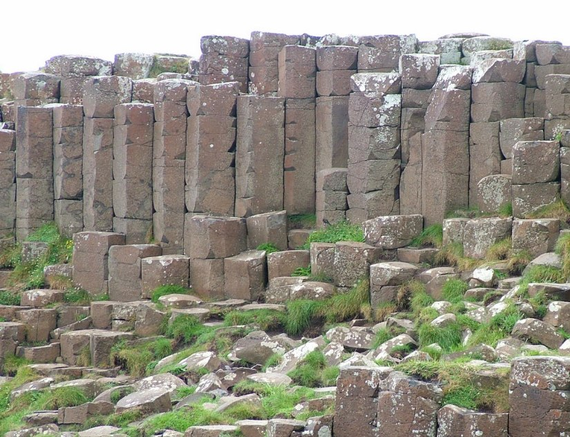An image of the hexagonal basalt columns at the Giant's Causeway, near Portrush, Northern Ireland. Photography by Frame To Frame - Bob and Jean.