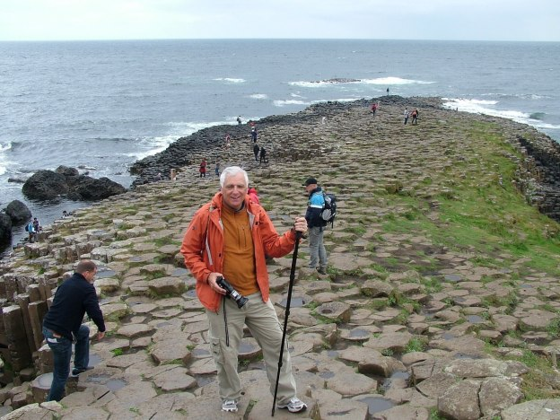 An image of Bob standing on the Giant's Causeway in Northern Ireland. Photography by Frame To Frame - Bob and Jean.