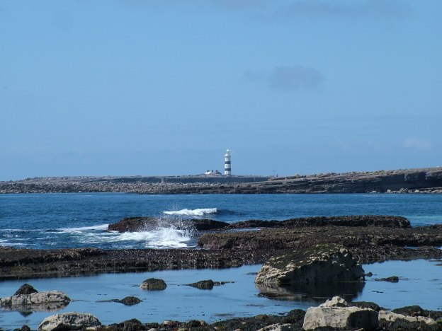 lighthouse on inishmore island, aran islands, ireland