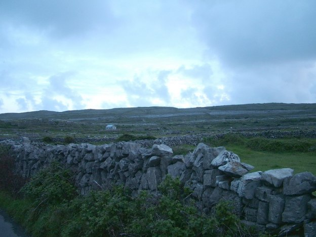 storm clouds over inishmore island, aran islands, ireland