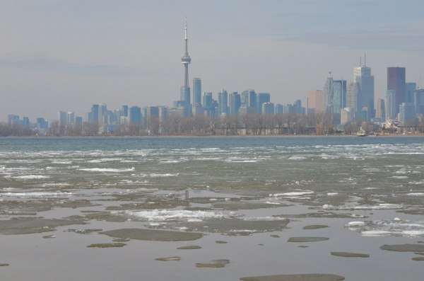 toronto from tommy thompson park, ontario