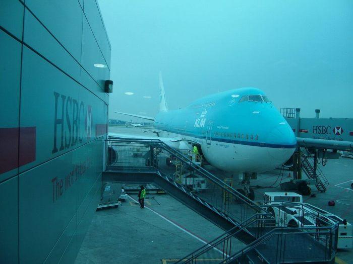 klm aircraft, toronto international airport, flight to south africa