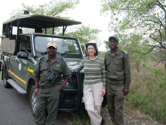 walking safari in kruger national park, south africa