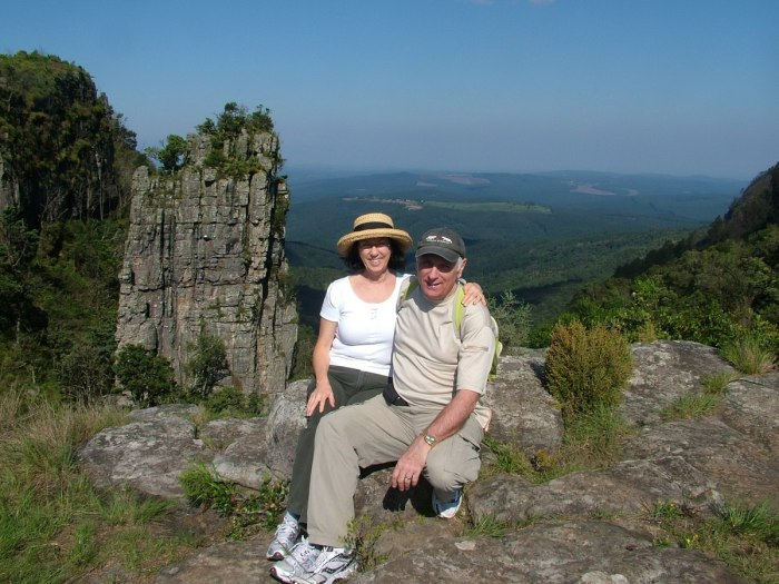 bob and jean, pinnacle rock, graskop, mpumalanga, south africa