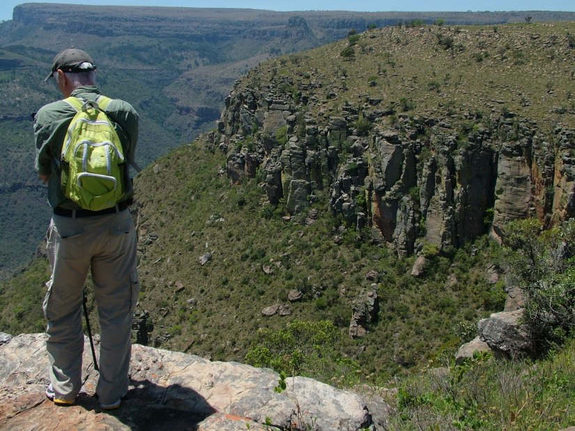 Bob at the top of the Drakensberg Escarpment, South Africa