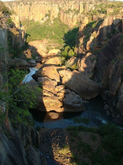 Gorge at Bourkes Luck Potholes in Moremela, South Africa