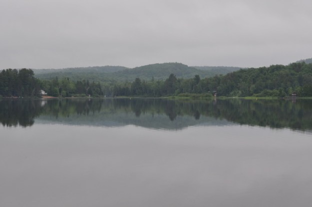 cloudy morning at oxtongue lake, ontario