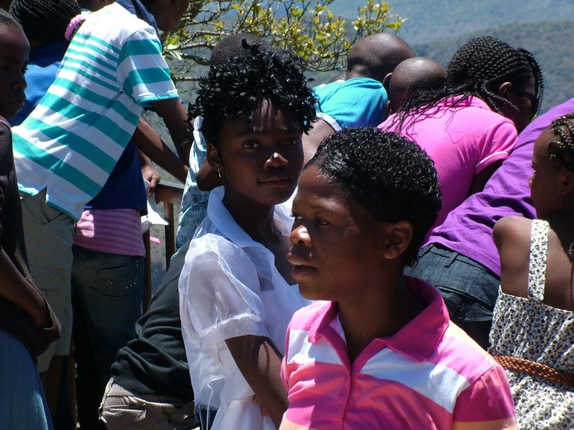 Students at Blyde River Canyon in South Africa