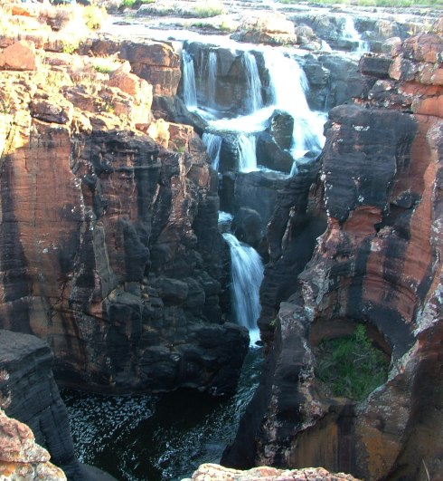 Waterfalls at Bourkes Luck Potholes in South Africa