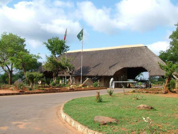 Entrance gate to Kruger National Park in South Africa