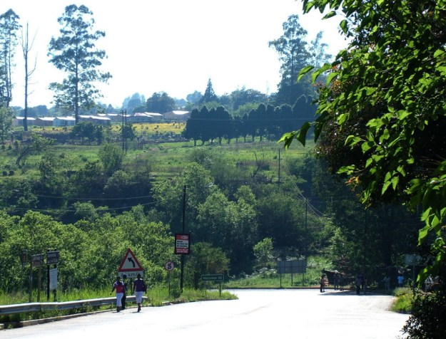Main road in Sabie, South Africa