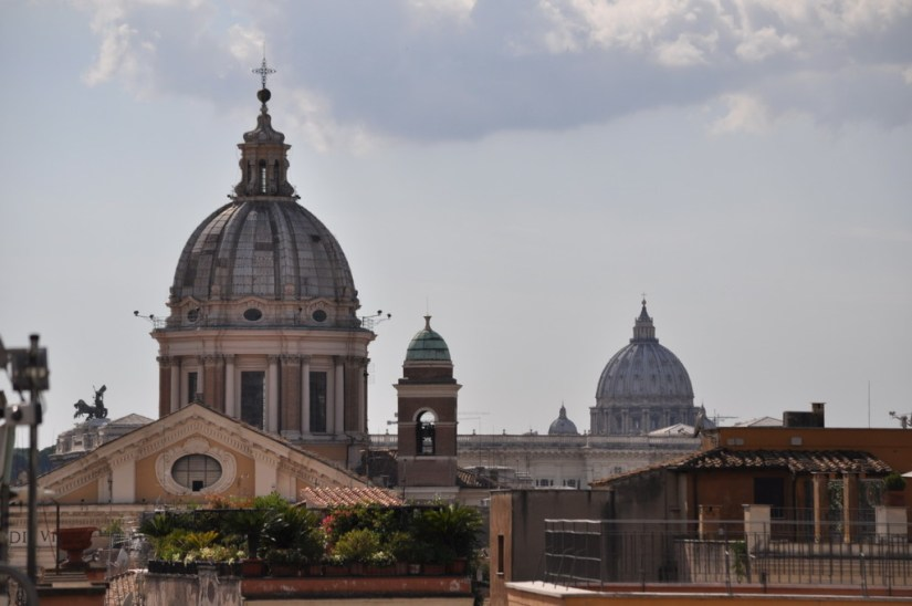 Domes on Rome Skyline, Italy