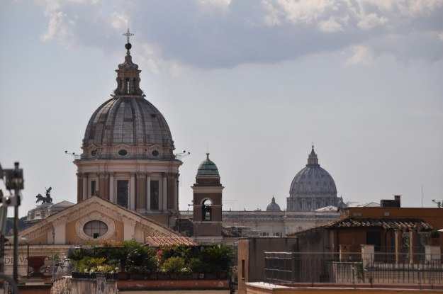 Domes on Rome Skyline, Italy