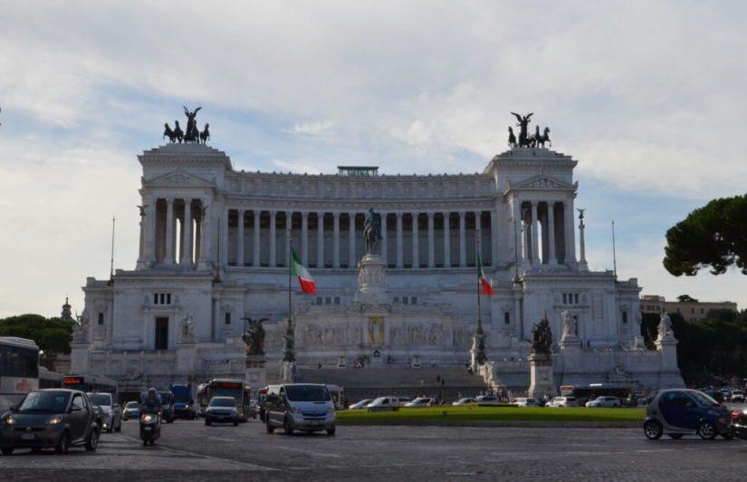 The Monumento a Vittario in Rome, Italy