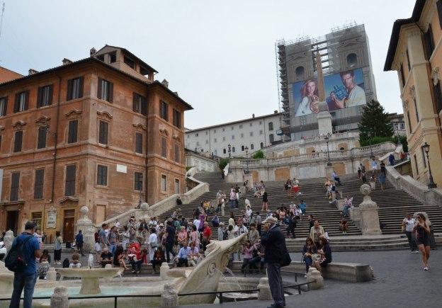 Fontana della Barcaccia below the Spanish Steps in Rome, Italy