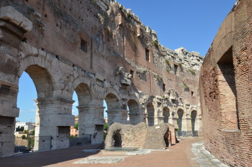An image of the Roman arches in the interior walls of the Colosseum in Rome, Italy. Photography by Frame To Frame - Bob and Jean.