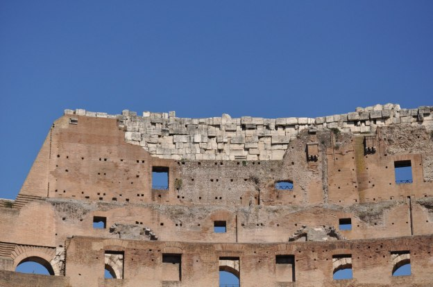 An image of the interior walls of the Colosseum in Rome, Italy. Photography by Frame To Frame - Bob and Jean.