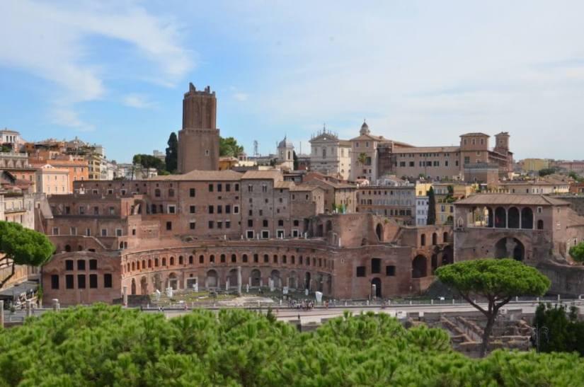 Trajan's Market ruins in Rome, Italy