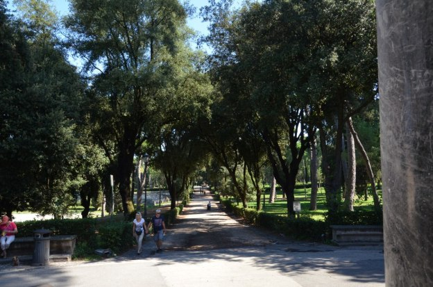 An image of the main walkway in Villa Borghese Park in Rome, Italy. Photography by Frame To Frame - Bob and Jean.
