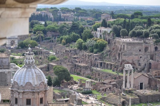 An image of the Palatine Hill at the Roman Forum in Rome, Italy.