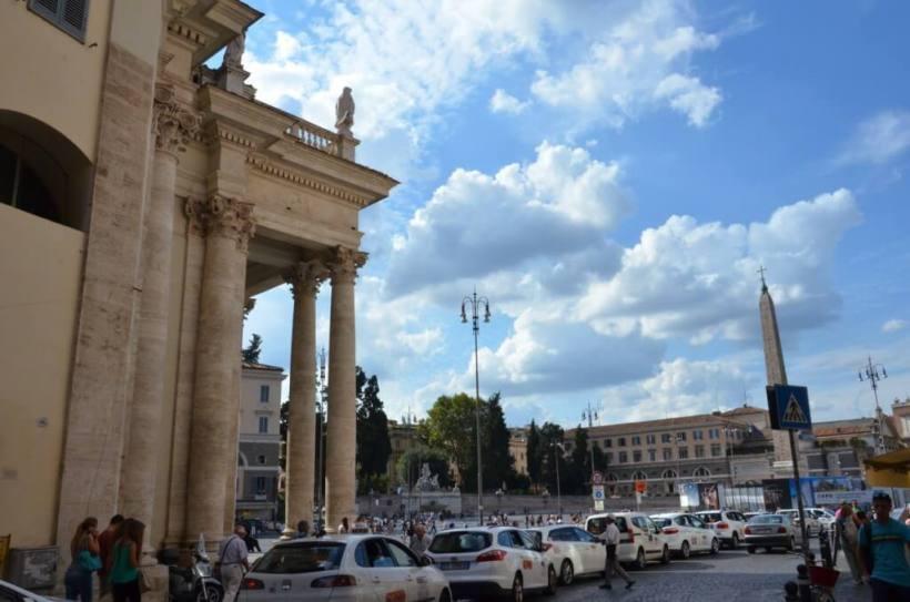Piazza del Popola square in Rome, Italy